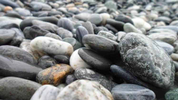 Pebbles at Chihsingtan Beach 七星潭 instead of the usual sand.