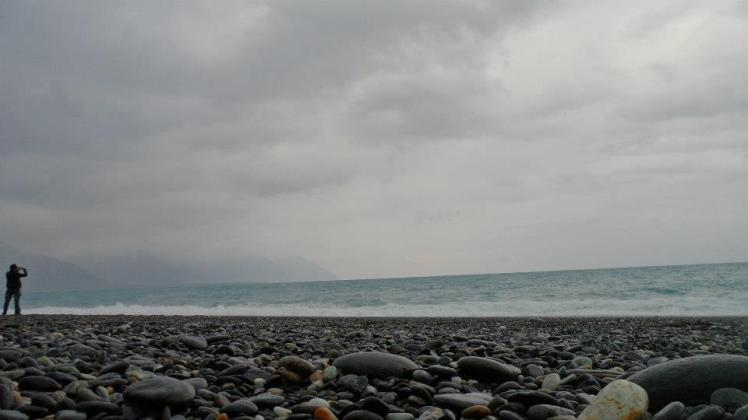 The Pacific Ocean from Chihsingtan Beach 七星潭