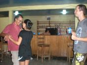dancing in a community centre-like bar