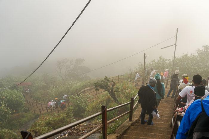 Fog at Adam's Peak