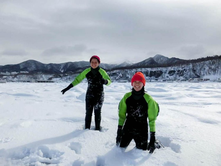 drift ice walking tour in utoro